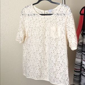 Gap lace blouse, size M cream